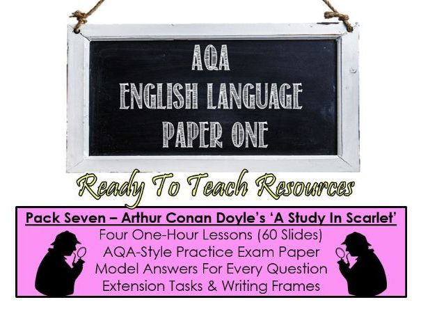 English Language Paper One - A Study In Scarlet