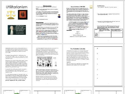 Utilitarianism Workbook and Power Points