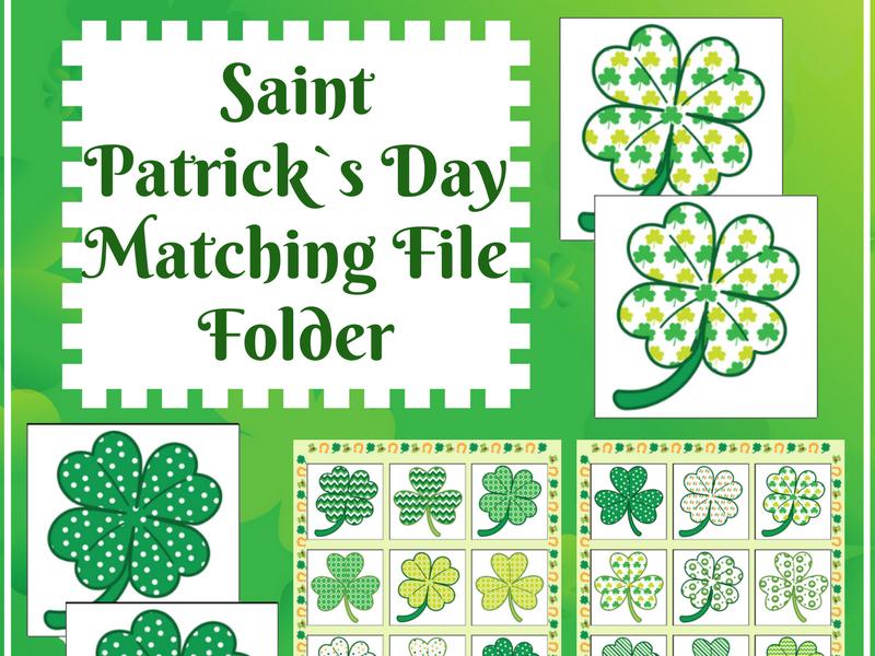 FREE Saint Patrick`s Day Activity for Autism