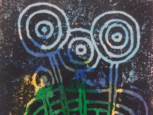 Friedensreich Hundertwasser and his lollipop trees printing project