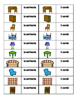 Mobili (Furniture in Italian) Dominoes