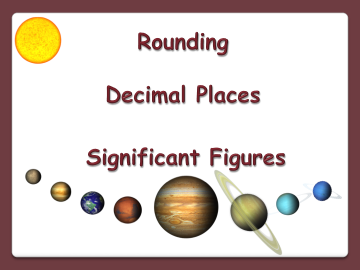Rounding, Decimal Places, Significant Figures animated PowerPoint and Worksheets- GCSE