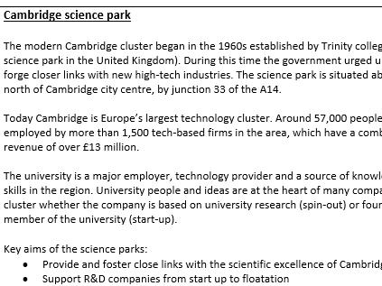 A level Geography case study- Knowledge economy- Bangalore vs Cambridge
