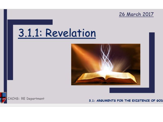 3.1.1 Revelation (New Edexcel GCSE 9-1 Religious Studies)