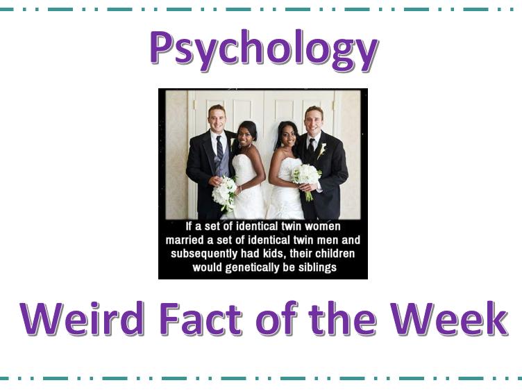 Psychology strange Fact cards - Open evening activity
