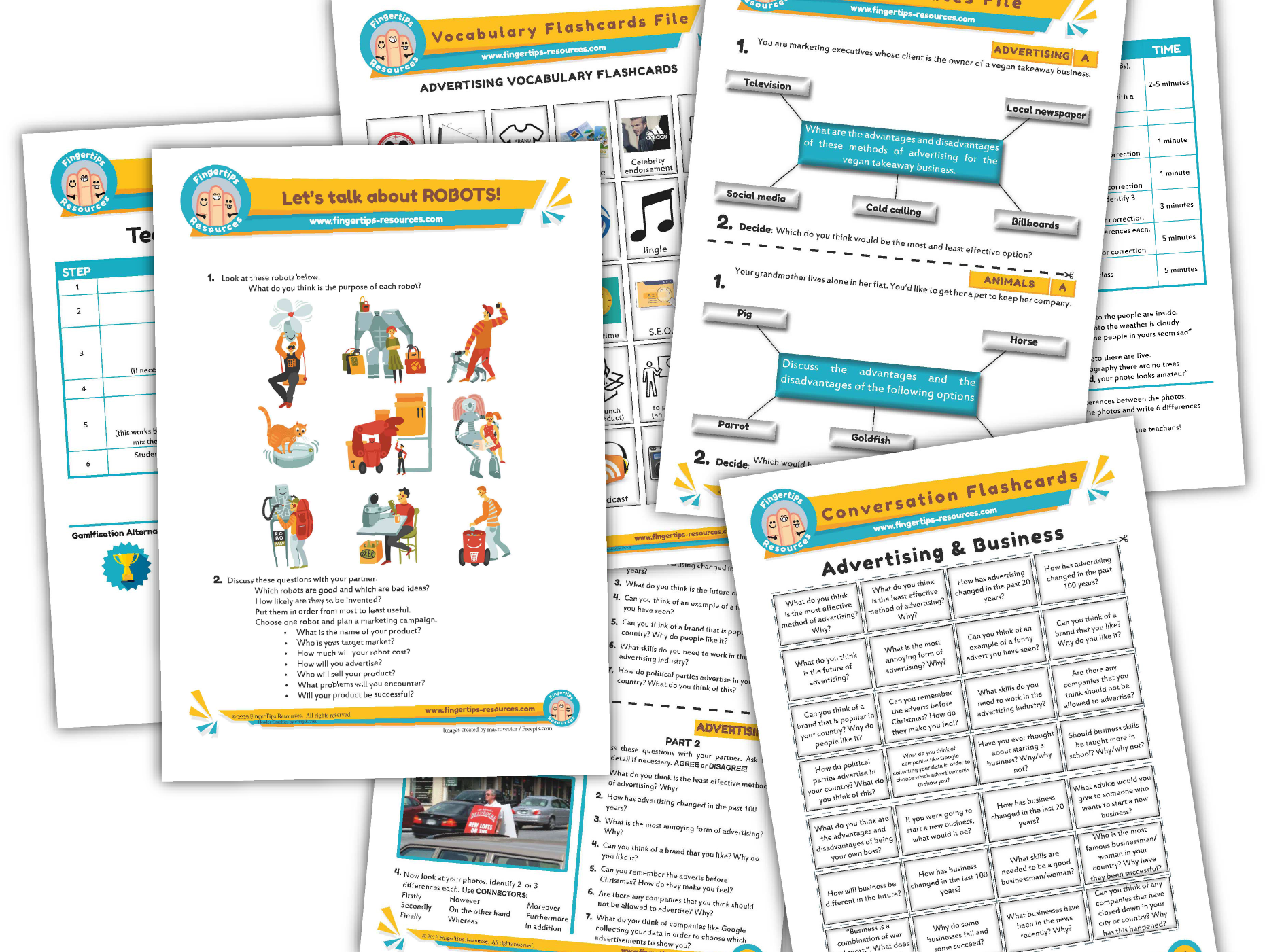 Advertising & Marketing Unit - ESL Activity Bundle