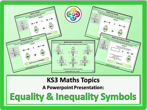 Equality and Inequality Symbols