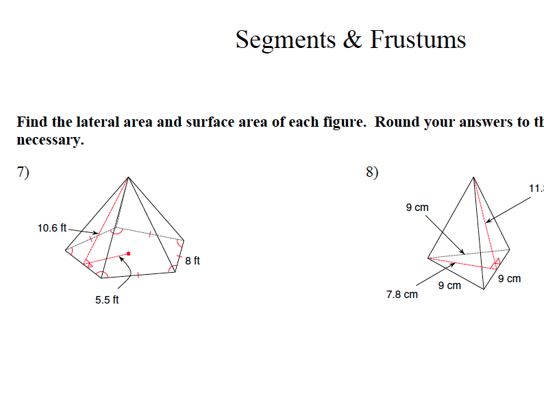 GCSE Maths Revision Segments and Frustums
