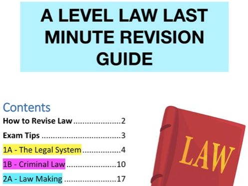 A-LEVEL LAW REVISION GUIDE