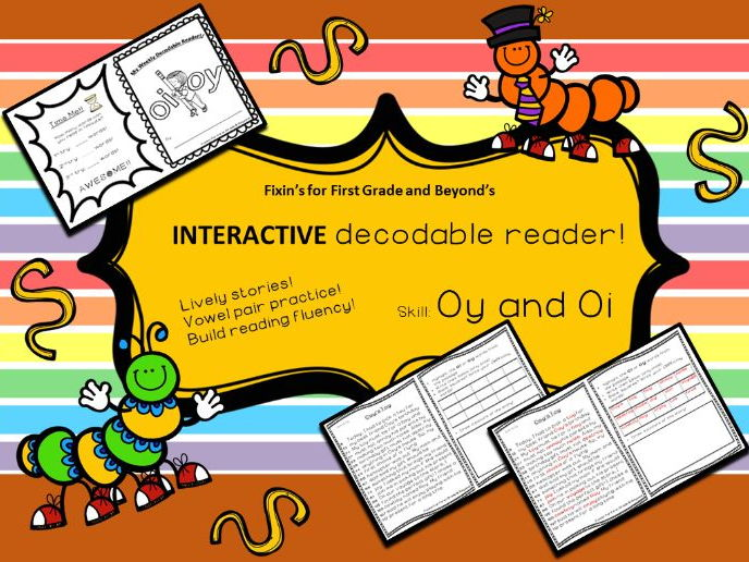 Interactive Decodable Reader/Printable Booklet - oi, oy