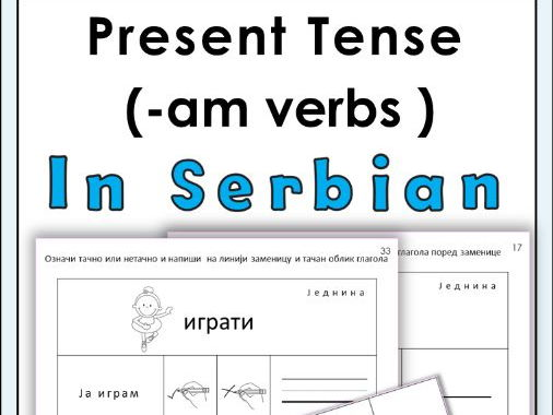 Serbian ( -am ) verbs in Present Tense