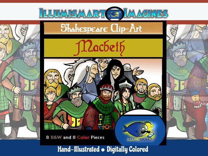 "Shakespeare's ""Macbeth"" ClipArt (16 pc. BW and Color!)"