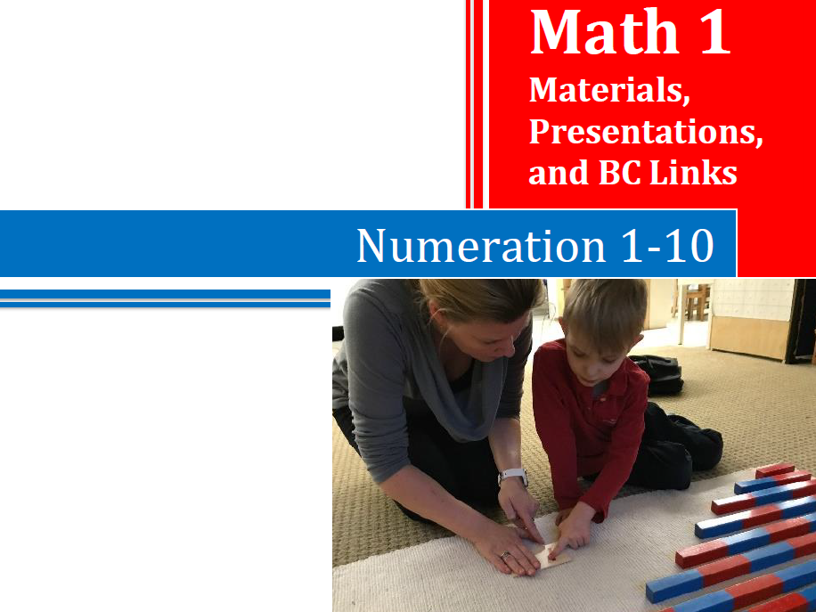 Montessori Math Numeration 1-10 Training Manual