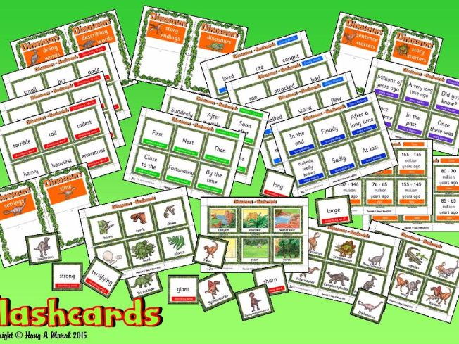 Dinosaurs Flash Cards & Story Prompts