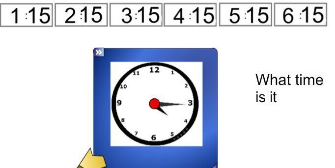 Telling the Time - Quarter past