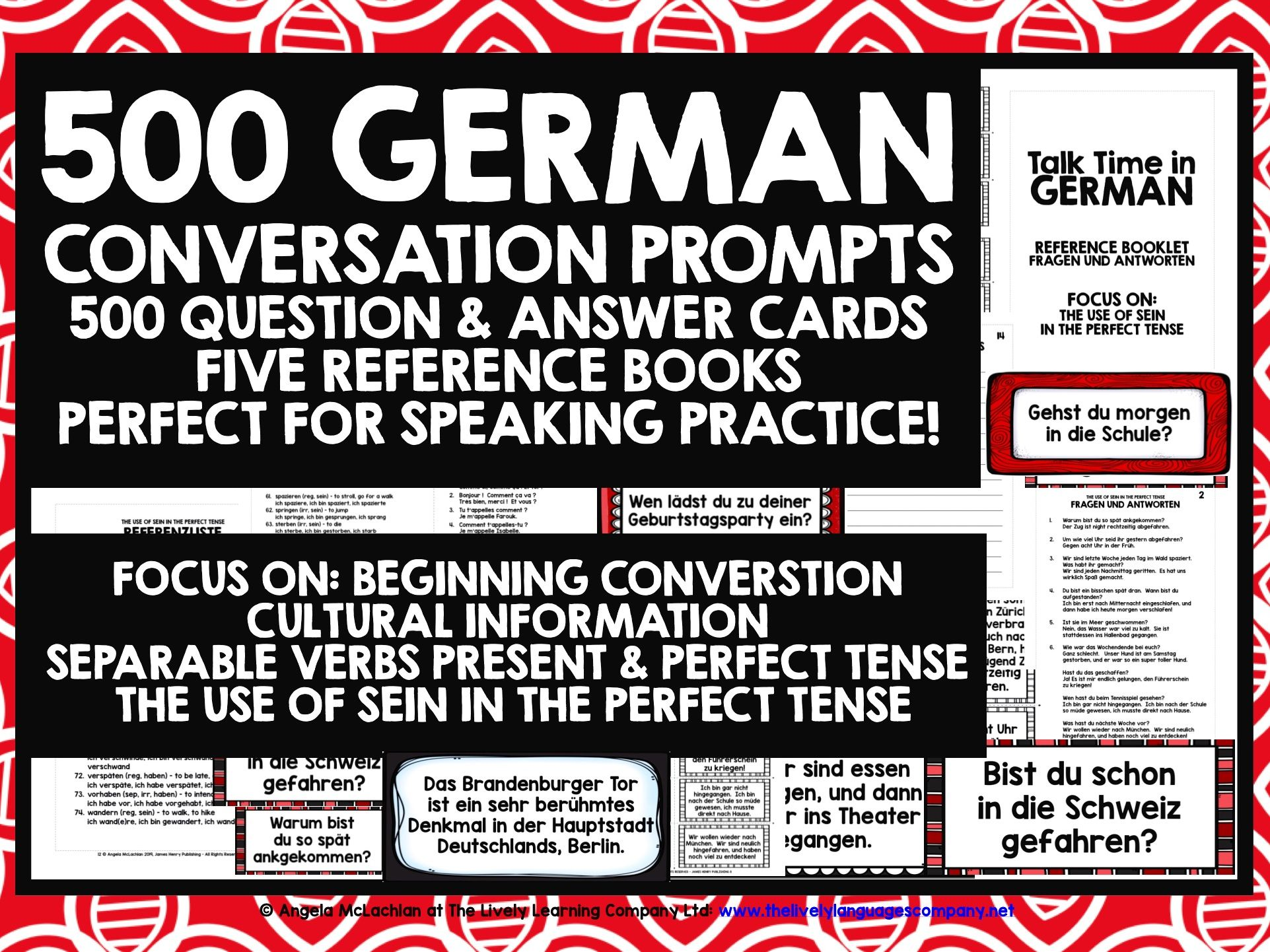 GERMAN SPEAKING PROMPTS 500 QUESTION & ANSWER CARDS