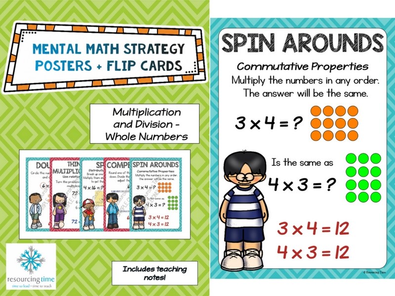 Mental Maths Strategy Posters + Flips Cards (Multiplication and Division)