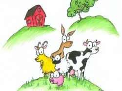 FRENCH - FARM ANIMALS AND DAYS OF  THE WEEK - LES ANIMAUX DE LA FERM ET LES JOURS DE LA SEMAINE