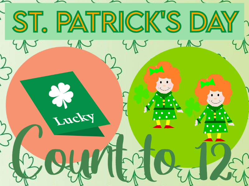 St Patrick's Day Counting to 12 Cards
