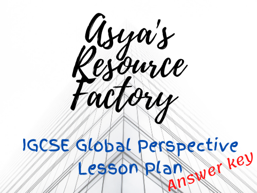 IGSCE Global Perspective Lesson Plan: George Floyd Answer Key