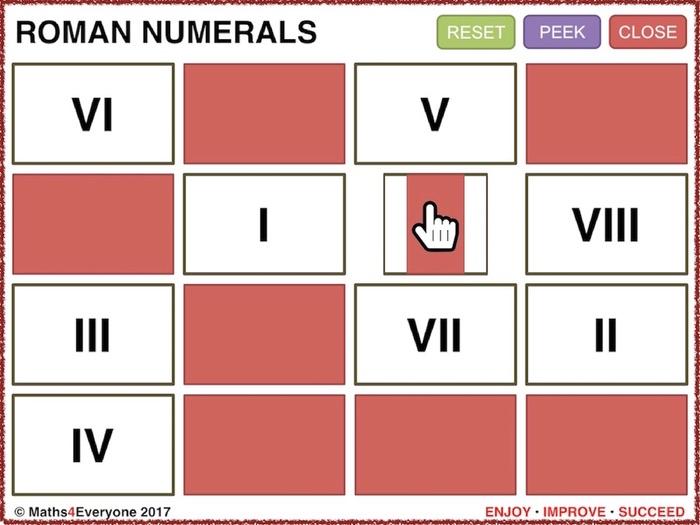 Roman Numerals (Interactive PowerPoint Game)