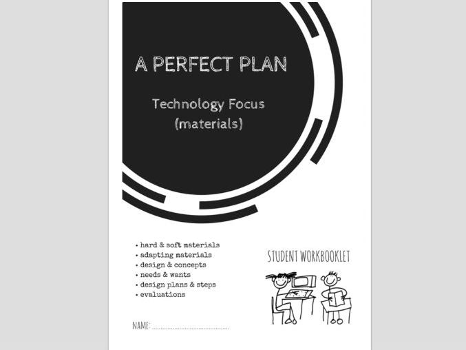 SPECIAL EDUCATION - DESIGN TECHNOLOGY - PLANNING PROJECTS, BASIC DESIGN, USING MATERIALS workbooklet