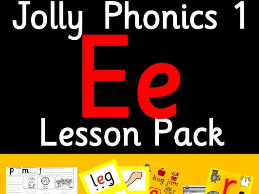 Phonics Worksheets, Lesson Plan, Flashcards | Jolly Phonics Letter E Lesson Pack