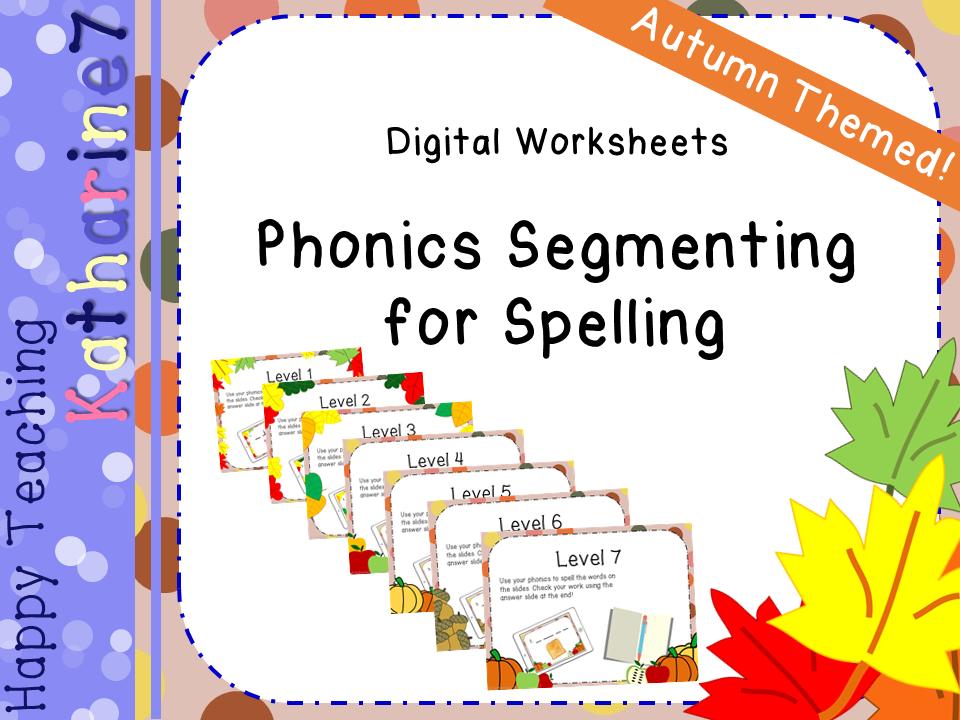 Digital worksheets - phonics segmenting practise