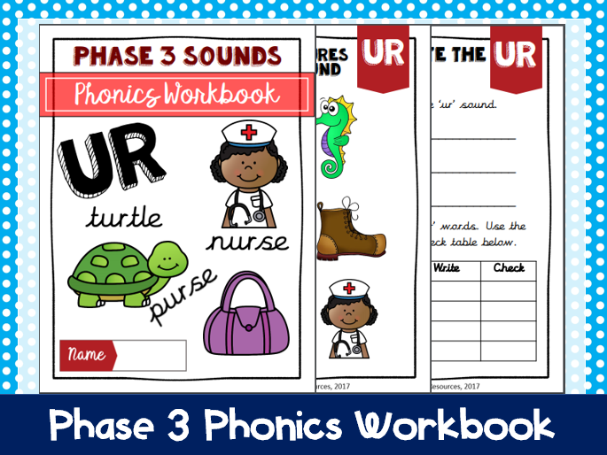 'ur' Phonics workbook
