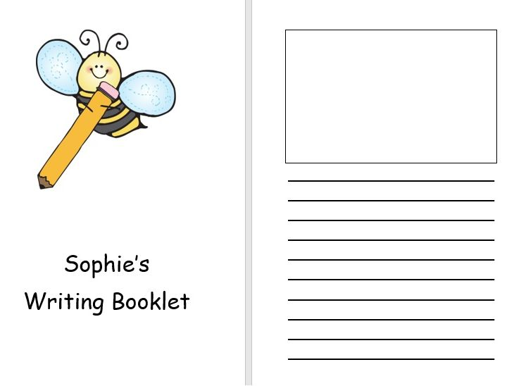 Writing booklet