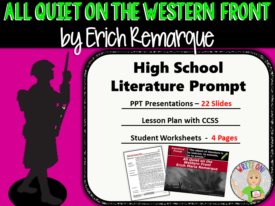 All Quiet on the Western Front Text Dependent Analysis – All Quiet on the Western Front Worksheet