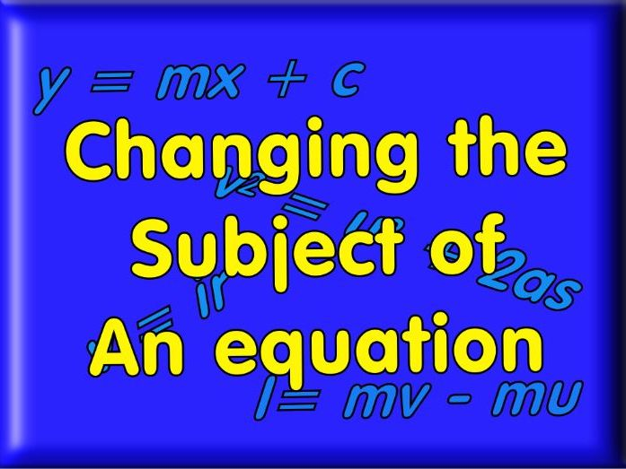 Rearranging Equations For GCSE + Answers