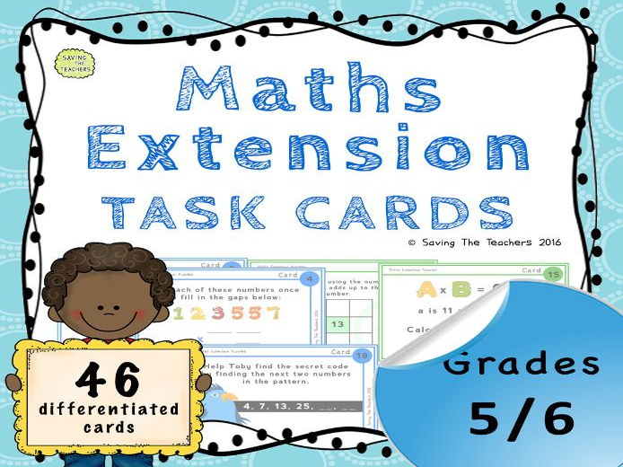 Maths Task Cards: Years 5 and 6