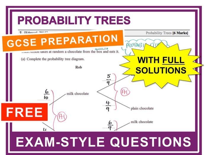 GCSE 9-1 Exam Question Practice (Probability Trees)