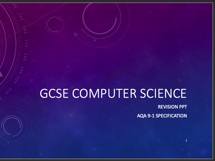 Ultimate GCSE Computer Science AQA Revision PPT