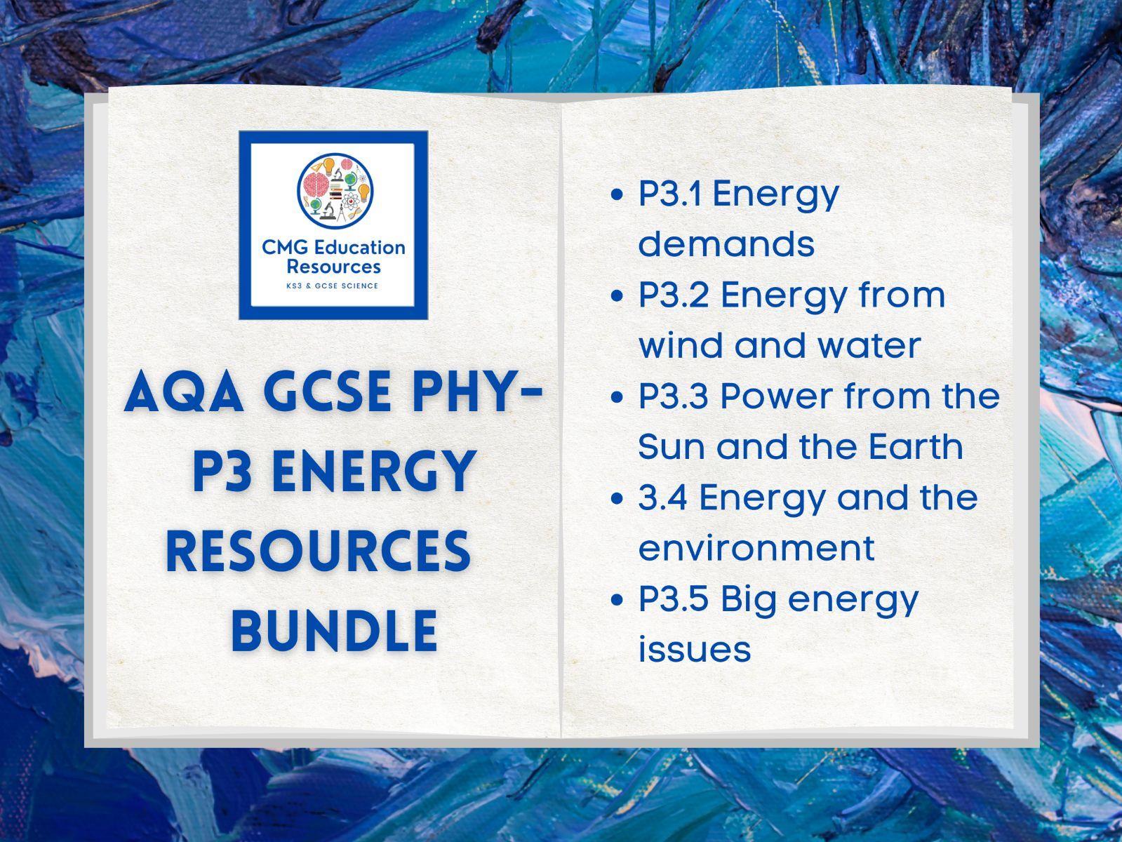 P3 Energy resources bundle (AQA 9-1 GCSE Physics)