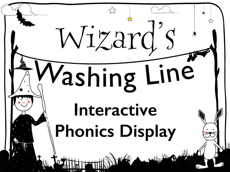 Interactive Phonics Display: Wizard's Washing Line
