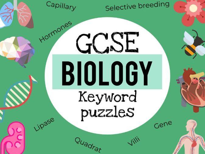 GCSE Biology keyword puzzles