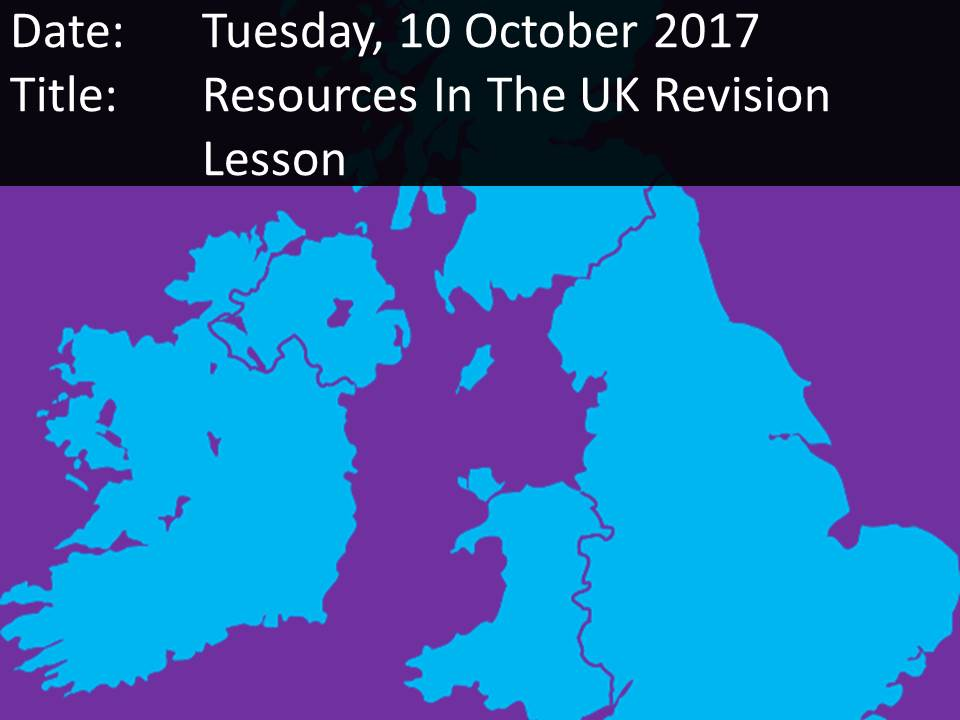 Resources In The UK Assessment