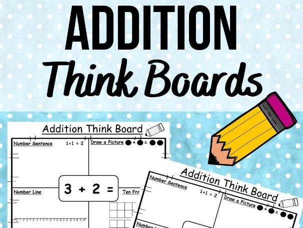 Addition Think Boards within 5, 10 and 20