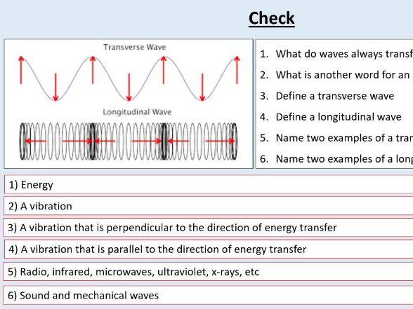AQA GCSE Physics (4.6.1.1) Waves - Transverse and longitudinal waves