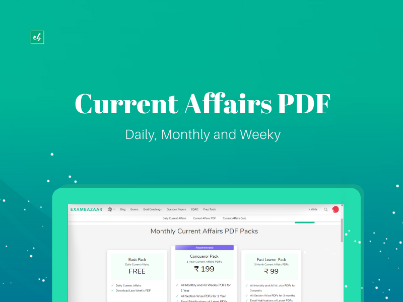 Current Affairs PDF for Competitive Exams