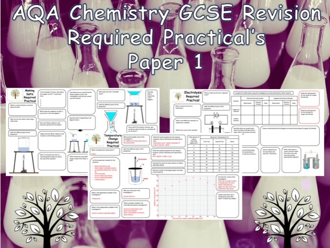 Chemistry Required Practicals - NEW AQA GCSE Chemistry Trilogy Paper 1 Revision with Answers