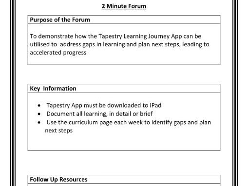 2 and 5 Minute Forums - Professional Development 2 and 5 Minute Forums - Professional Development2
