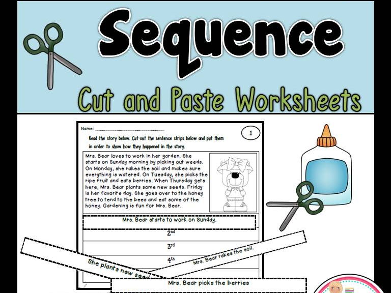 Sequence Cut And Paste Worksheets By Teacherstakeout Teaching