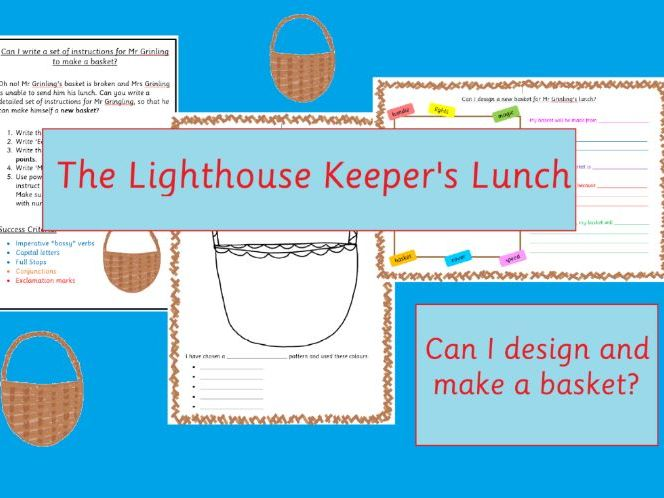 The Lighthouse Keeper's Lunch Basket Making and Designing