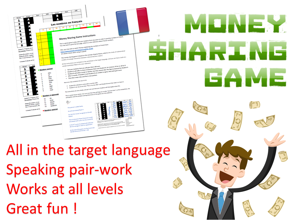 French speaking Money Sharing Game