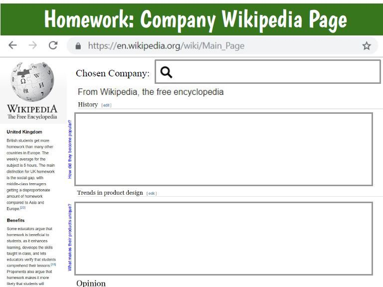 Wikipedia Page homework - Key Companies D&T Design Technology