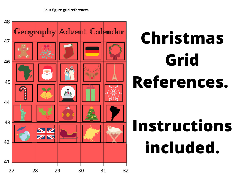Christmas Four Figure Grid References