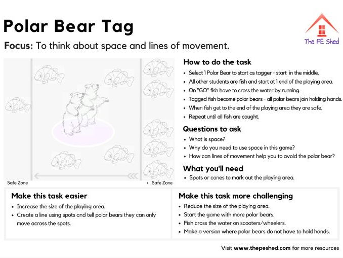 Polar Bear Tag - Physical Education Game